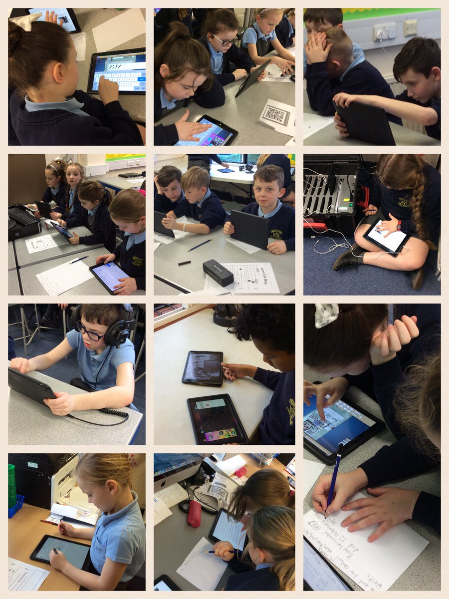 Year 4 researching for LS Lowry information, and singing the tribute to LS Lowry song 'Matchstalk Men and Matchstalk Cats and Dogs🎤🎤🎤