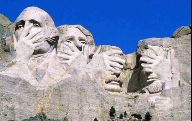 Latest update from Mount Rushmore after the #TrumpPressConference http...
