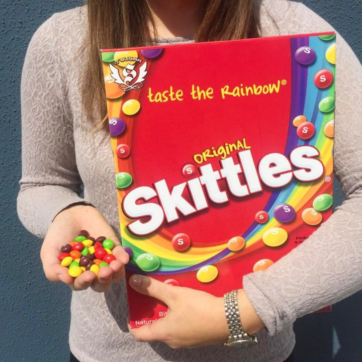 it sugar on twitter can we all agree that our giant skittles box