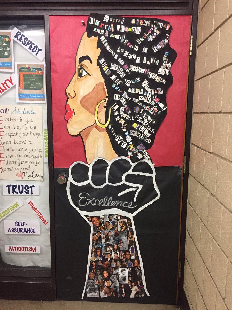 Black history month door decorations