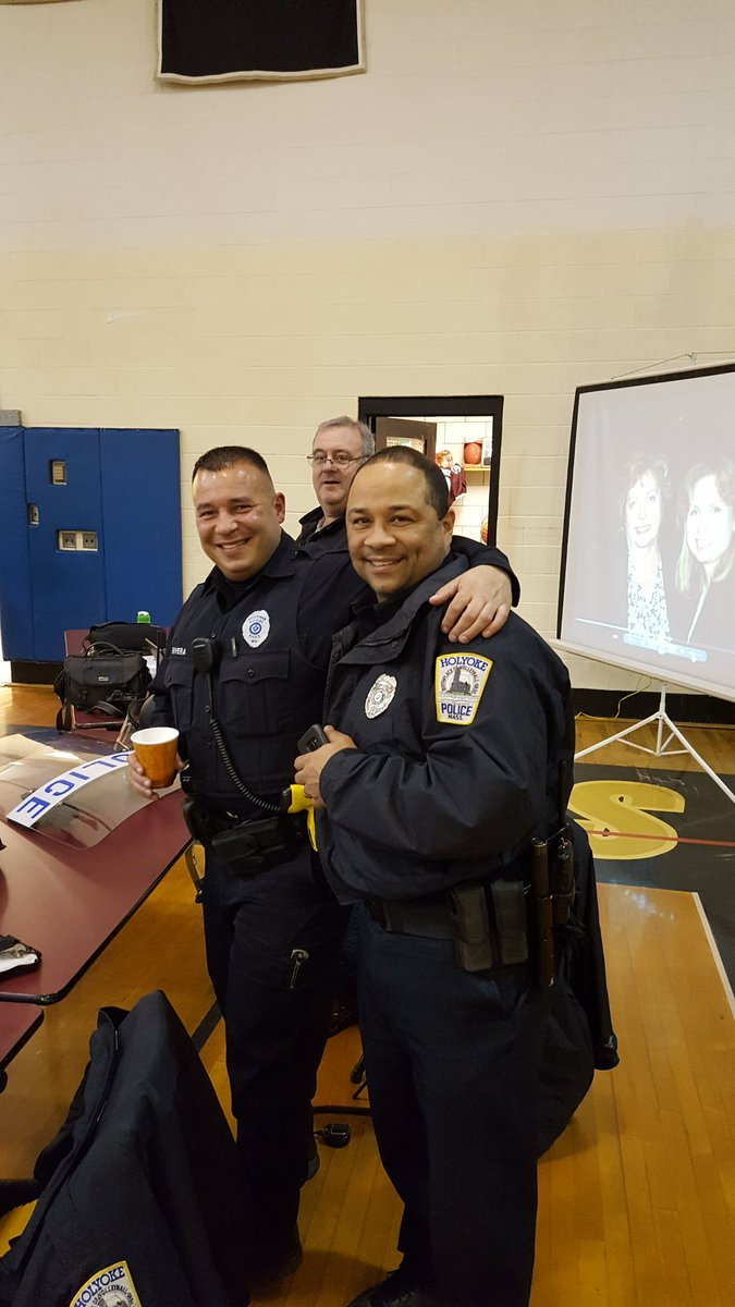 """HolyokePD on Twitter: """"Hpd officers at the civil service event for the  police officer exam!… """""""