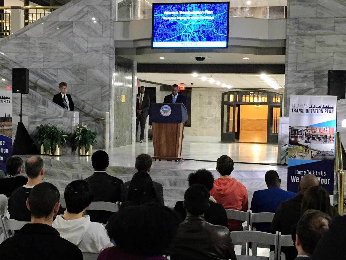 &quot;The best #cities in the world are the ones that plan for #everyone&quot; @KasimReed @ATLCityStudio @TimKeaneATL @ATLResilience #ATL #transit<br>http://pic.twitter.com/D6tQTLhFo2 &ndash; à Atlanta City Hall
