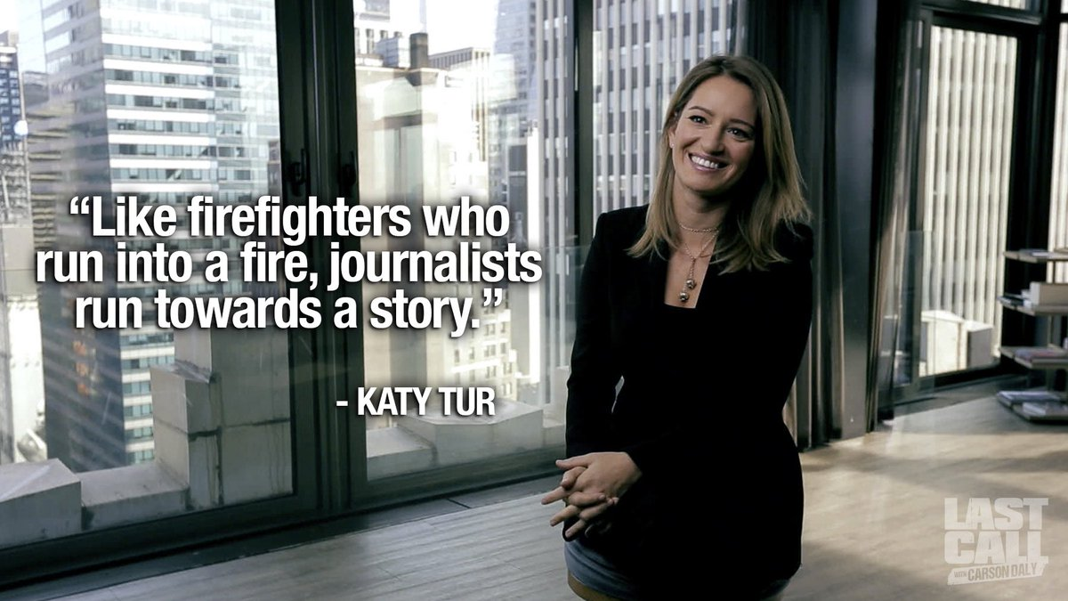 NBC Katy Tur compares job of journalists to firefighters