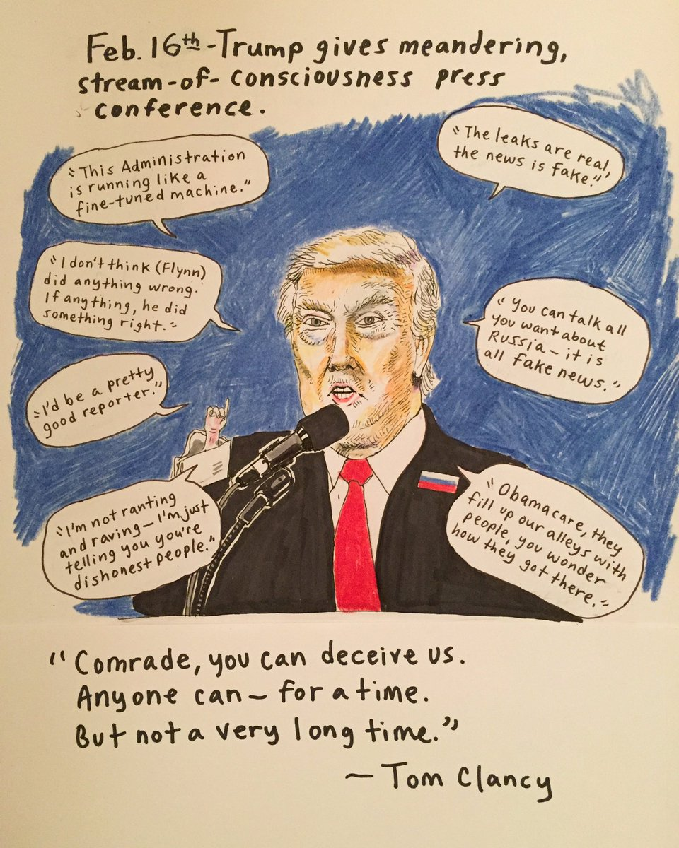 Day 27: Mess Conference #thedailydon #resist #notmypresident #thisisnotnormal #fakenews<br>http://pic.twitter.com/l4d6HSlmxs