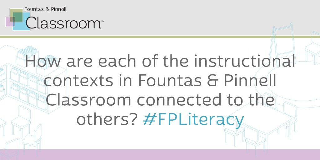 Q2. How are each of the instructional contexts in Fountas & Pinnell Classroom connected to the others? #FPLiteracy @FountasPinnell https://t.co/5FQefR8VBY