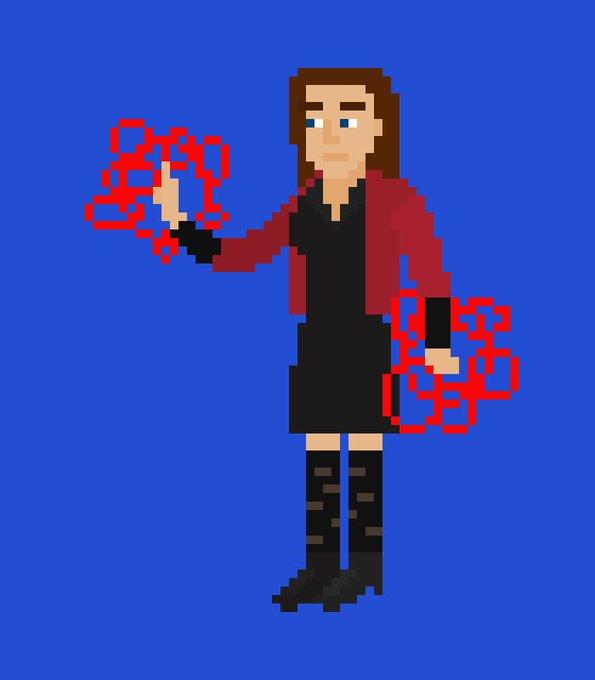Happy 28th Birthday to Elizabeth Olsen who plays Scarlett Witch in the MCU!