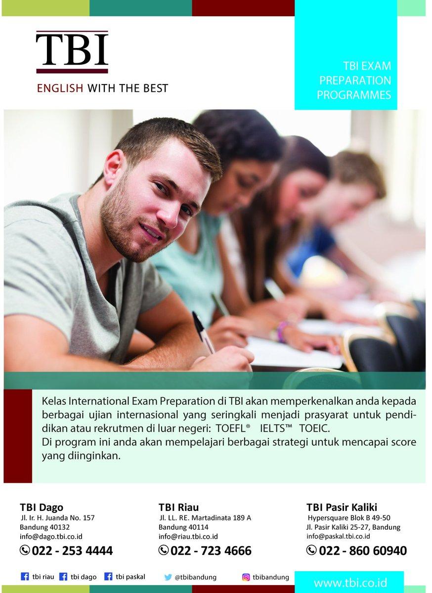 Do u want to improve your #IELTS score? Join TBI Exam Preparation class for IELTS at TBI Bandung (Dago,Riau, Paskal). #tbinfo #tbibandung
