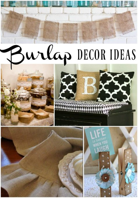 Burlap Decor Ideas