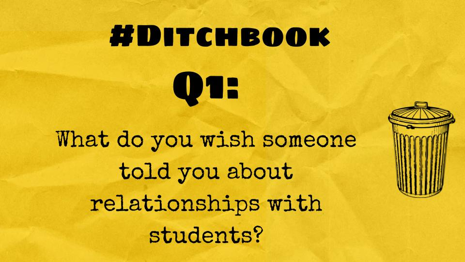 Q1 (for practicing teachers ... or for anyone really!)  #DitchBook https://t.co/wHqabOOSa0