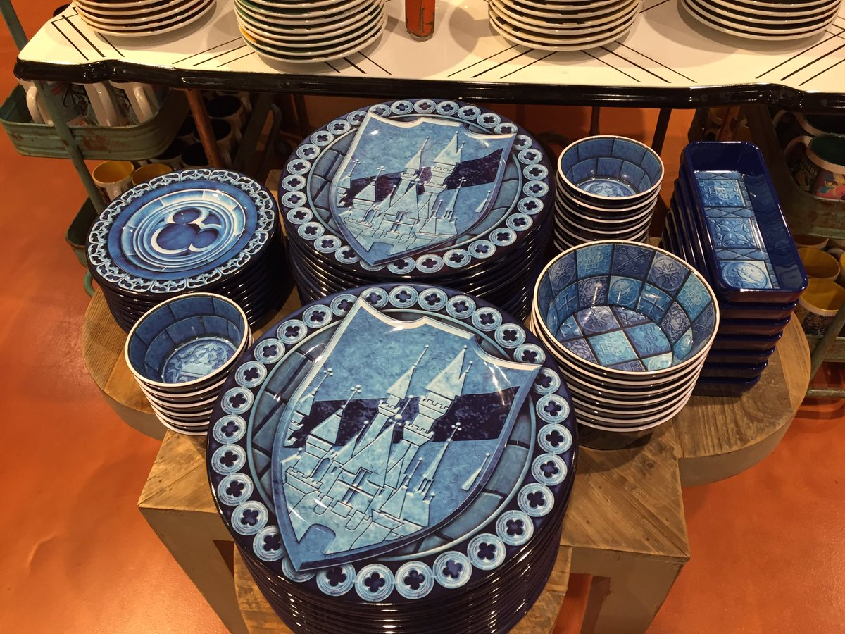 WDW News Today on Twitter \ Cinderella Castle-inspired plastic plates and bowls available as well! Very cool\u2026 \  & WDW News Today on Twitter: \