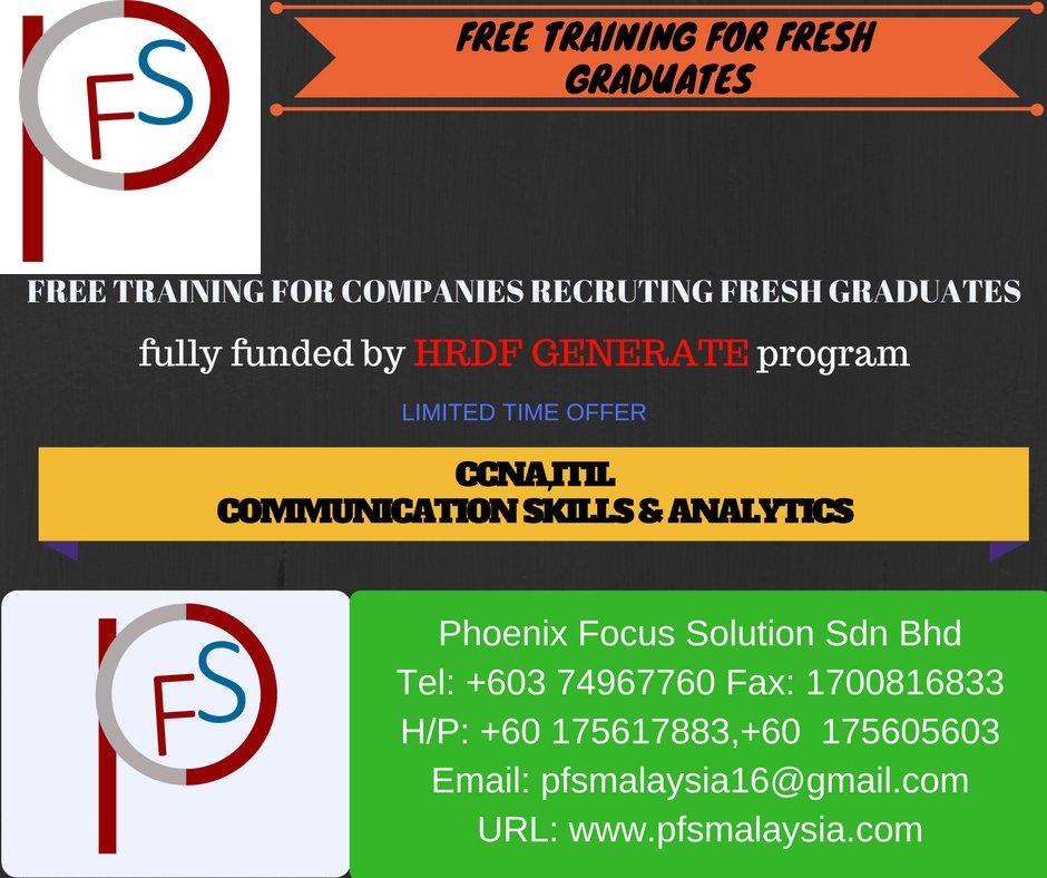 Pfs Malaysia On Twitter Free Training For Fresh Graduates In Hrdf Registered Companies Ccna Itil Communicationskills Analytics Hrdf Malaysia Https T Co Tm5dqxnstu