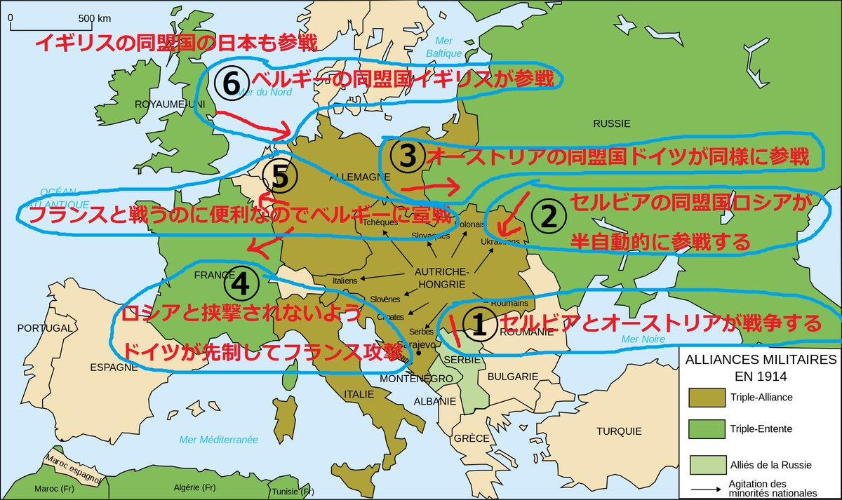 ベルギー「今起こったことをありのまま話すぜ。セルビアとオーストリアが戦争になったと思ったら、フランス…
