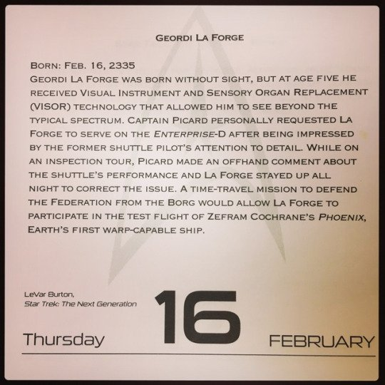 February 16, 1957 - Happy Birthday LeVar Burton!