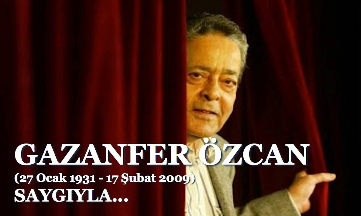 Yitirişimizin yıl dönümünde Gazanfer Özcan'a saygıyla... https://t.co/...