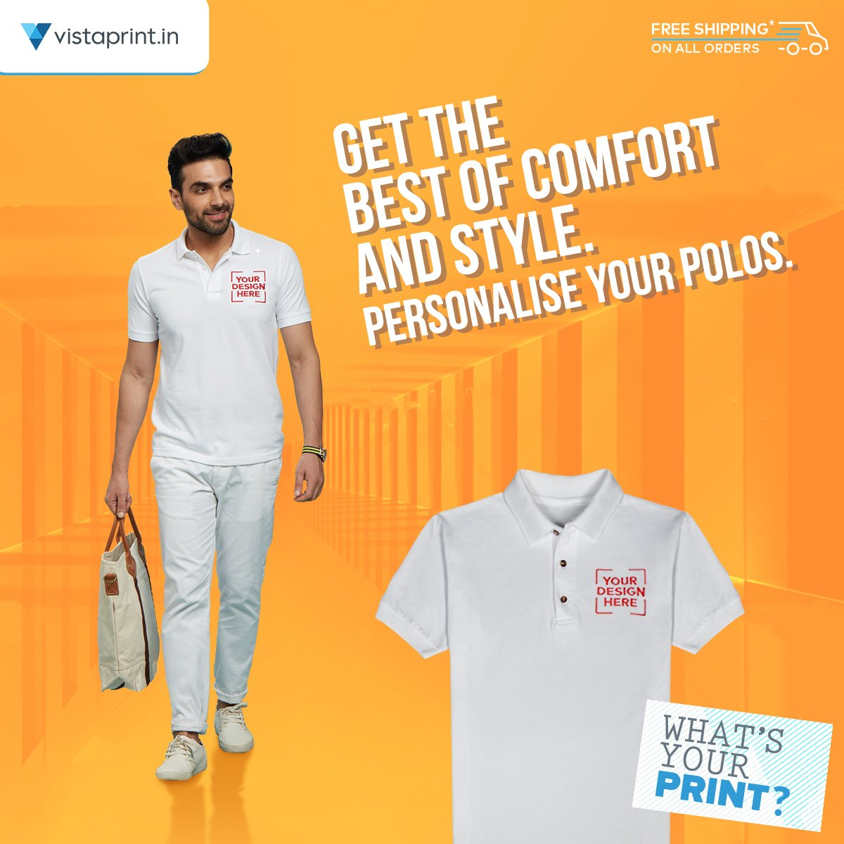 Design t shirt vistaprint - Vistaprint India On Twitter The Classic Polo Tshirt Is A Timeless Garment That Can Be Worn For All Occasions To Tell Us Whatsyourprint