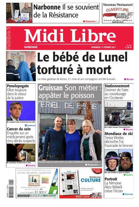 A la une de #MidiLibre #Narbonne ce vendredi - Il se souvient de la Résistance - Son métier : appâter le poisson<br>http://pic.twitter.com/PuXgiPIhlz