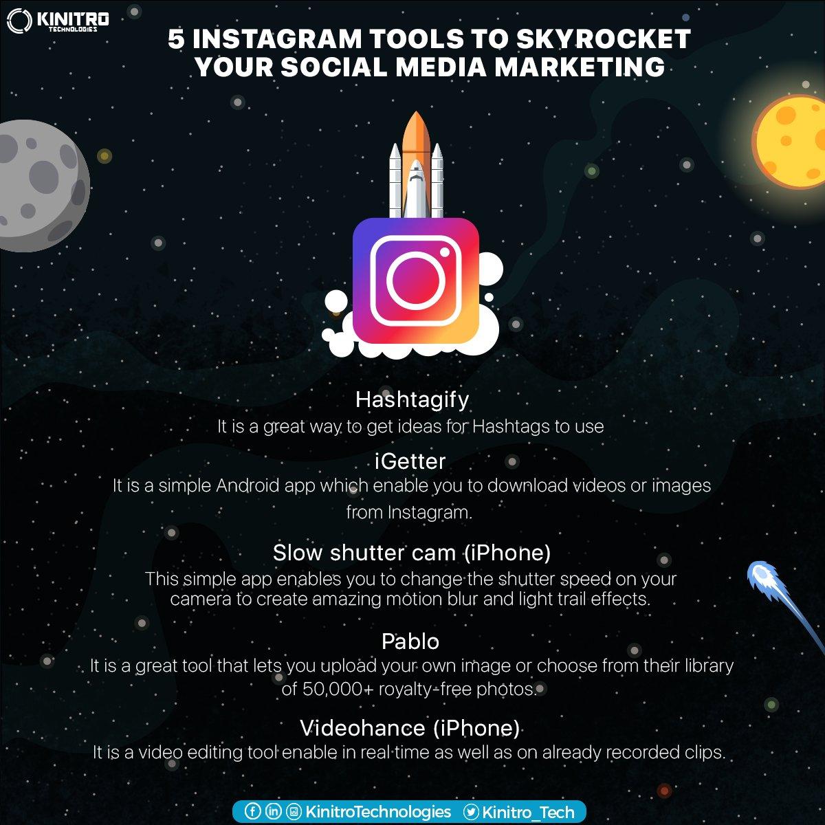 5 Instagram tools to skyrocket your #socialmedia marketing! #Socialmediamarketing #DigitalMarketing https://t.co/1G4IP9EFDW