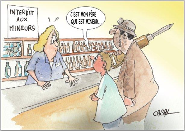 Le #dessin du jour de Casal @lenouvelliste : &quot;VENTE D&#39;ALCOOL AUX MINEURS: EN LÉGÈRE HAUSSE EN VALAIS…&quot; #Valais #Suisse<br>http://pic.twitter.com/vfpdLUMJHq