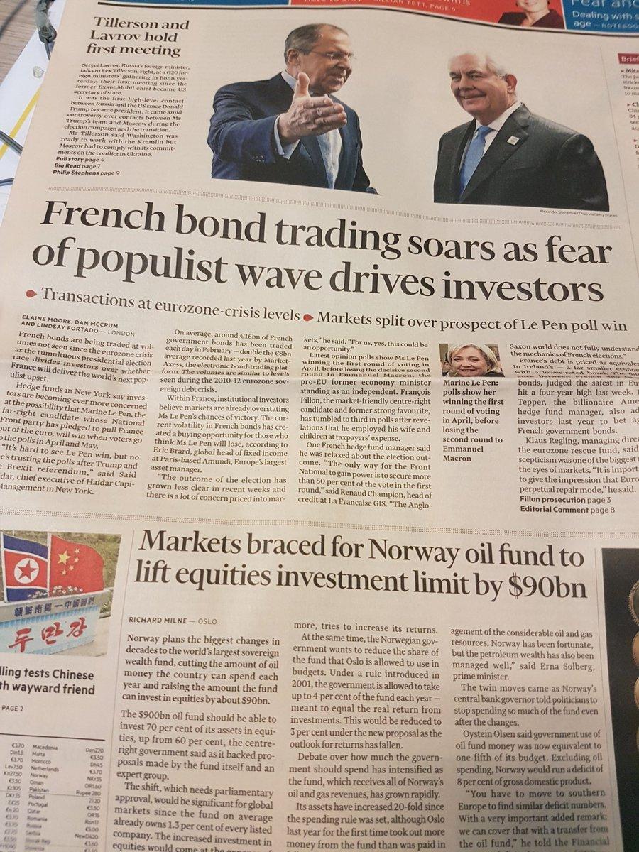 A son tour @FinancialTimes s&#39;inquiète de la hausse des #taux en France propulsée par la crainte d&#39;une victoire de Marine Le Pen <br>http://pic.twitter.com/pWjBvhjHzF