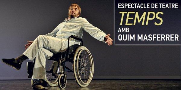 18 febrer #Agramunt · Espectacle de teatre: &quot;Temps&quot; amb Quim Masferrer @agramunt_cat  @radiosio  Informa&#39;t a l&#39;app ·  http://www. agendaurgell.cat  &nbsp;  <br>http://pic.twitter.com/EIJLXxCgVs