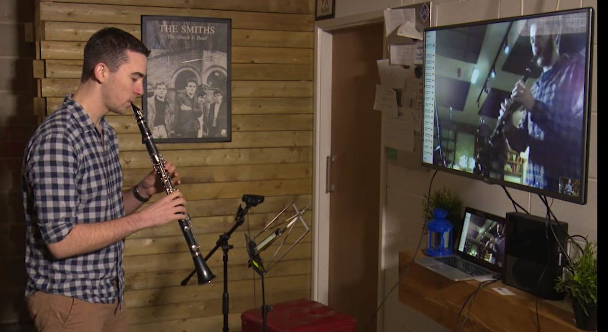 Snap from our new upcoming video about #Skype Music Lessons @georgestrick #musiclessons #piano #oboe #clarinet #musictheory @BTScotlandNews<br>http://pic.twitter.com/Rmo3XLP5FF