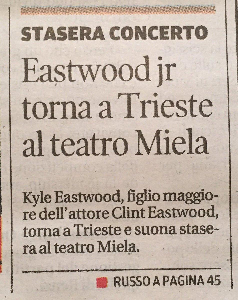Stasera Eastwood jr #concerto #jazz al @TeatroMiela<br>http://pic.twitter.com/dzglRh9PZQ