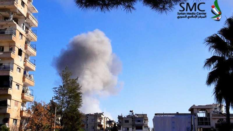 Bombardment of Al Waer District in Homs