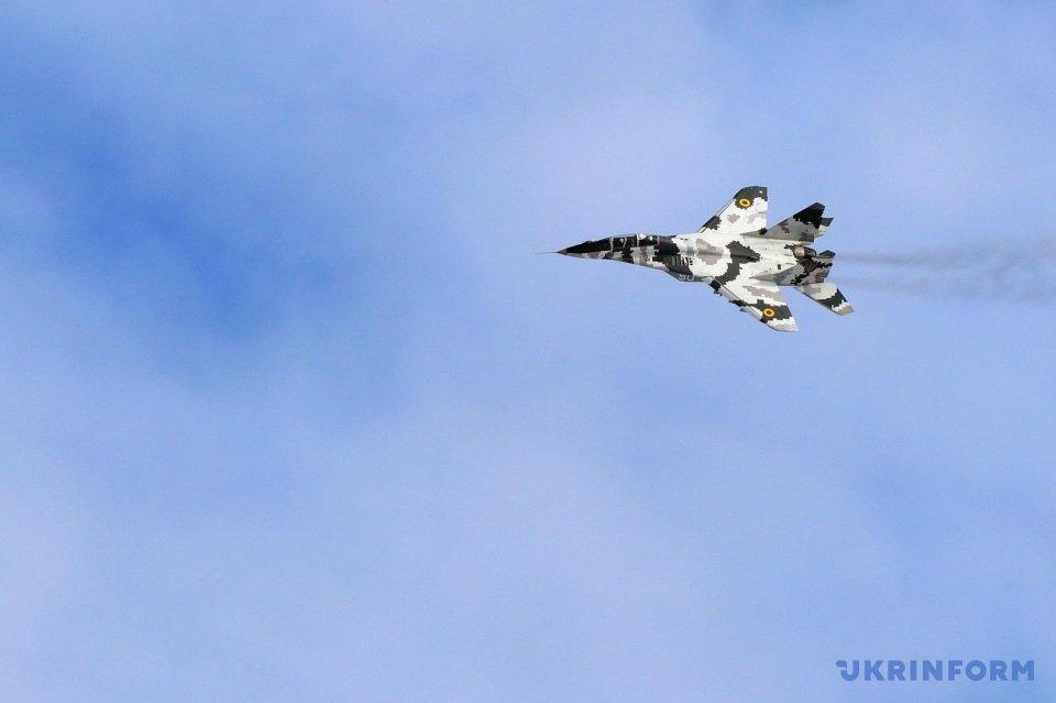 Ukrainian jets over Vasylkiv, Kyiv region