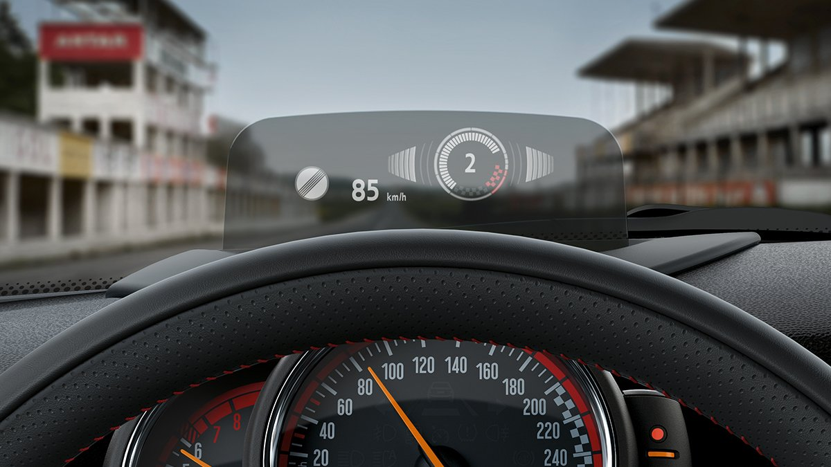 mini on twitter the head up display on the mini. Black Bedroom Furniture Sets. Home Design Ideas