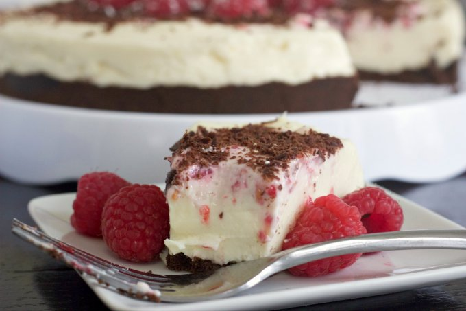 No-Bake Raspberry Cheesecake.