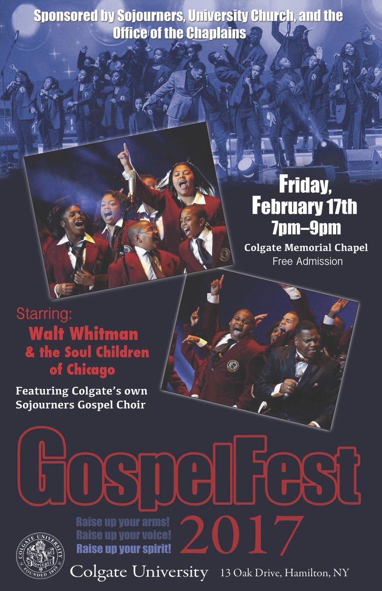 colgate university on gospelfest starts in minutes retweets 3 like 1 taylor bailey slim 10083 jason pflaum