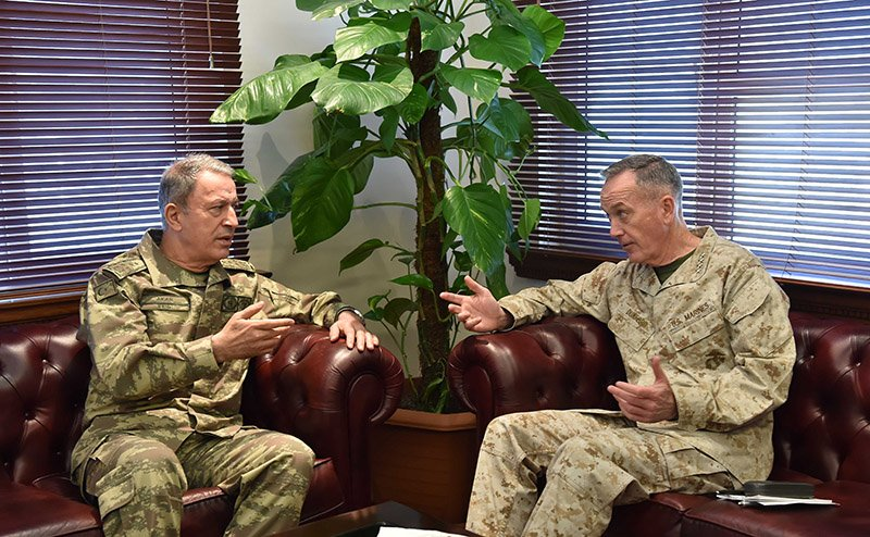 Chief of Staff Gen. Akar discusses al-Bab op, urges more cooperation from coalition in meeting with US counterpart