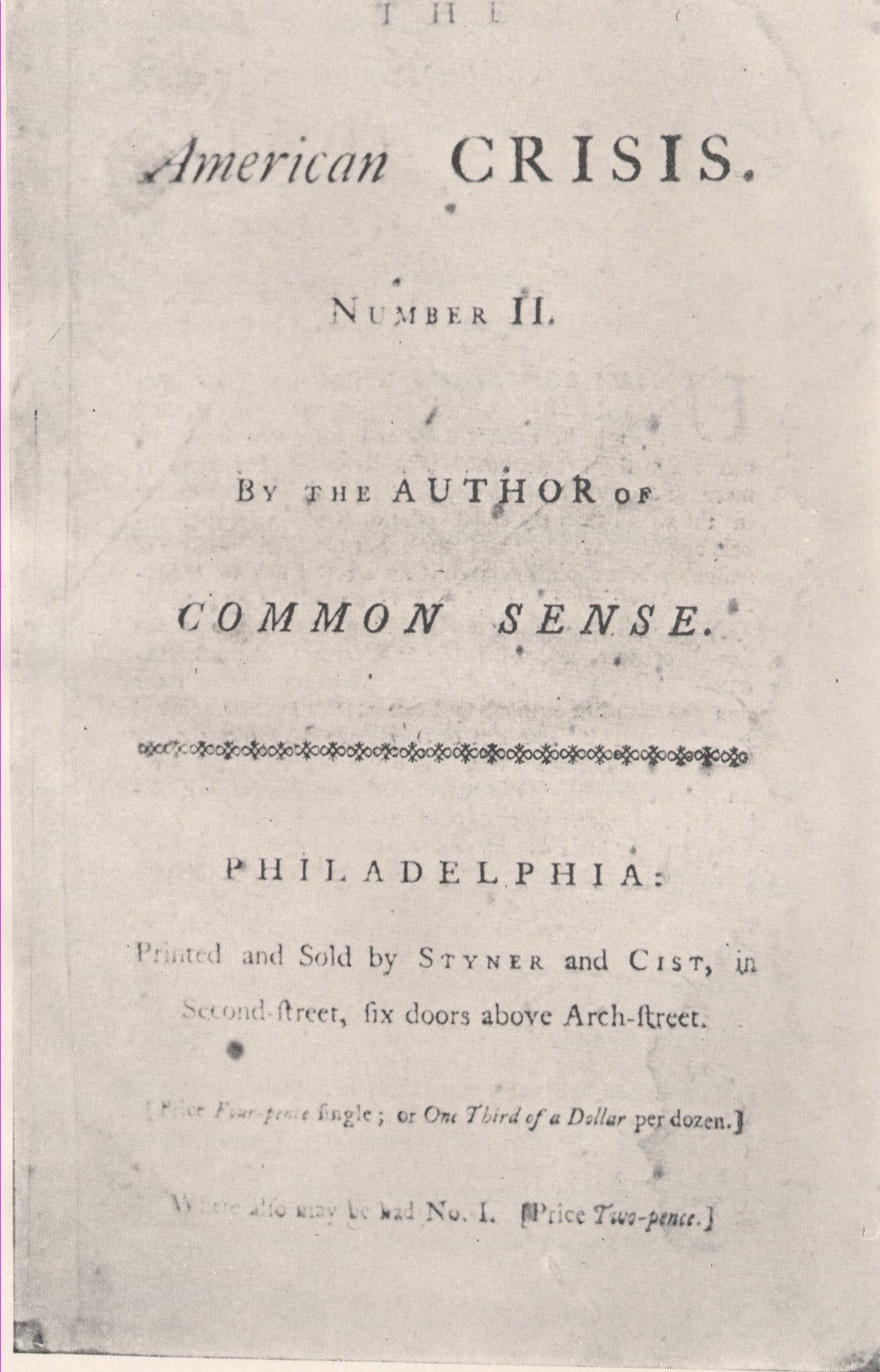 In 1776, Paine published The American Crisis pamphlet. Barack Obama quoted from it in his first inauguration speech. #DayofFacts https://t.co/1So34AhDBq