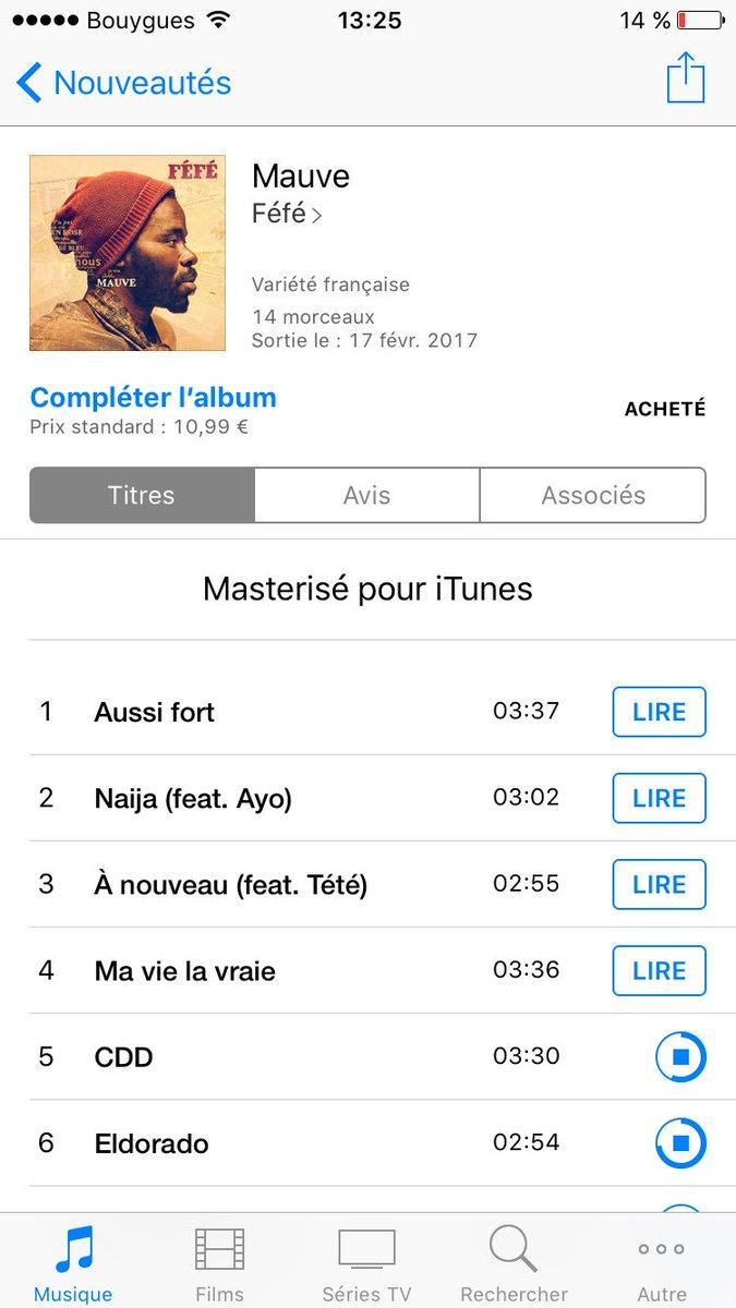 Et hop! #Mauve #Féfé  #Album #Qui #Tue  @FefeOff<br>http://pic.twitter.com/5rLtSB7CFg