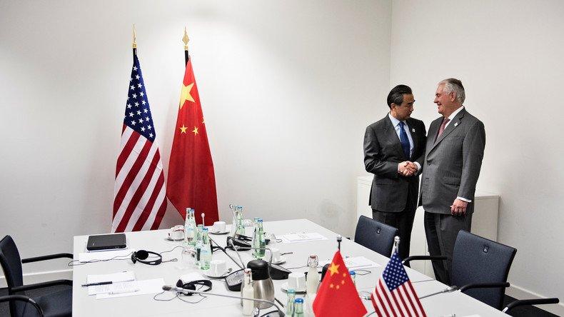 #RexTillerson dénonce &quot;l&#39;attitude déstabilisante&quot; de la #CoreeDuNord : #Washington lance un &quot;appel&quot; à la #Chine  https:// francais.rt.com/international/ 34120-washington-demande-pekin-aider-moderer-coree &nbsp; … <br>http://pic.twitter.com/Aor8trlGO6