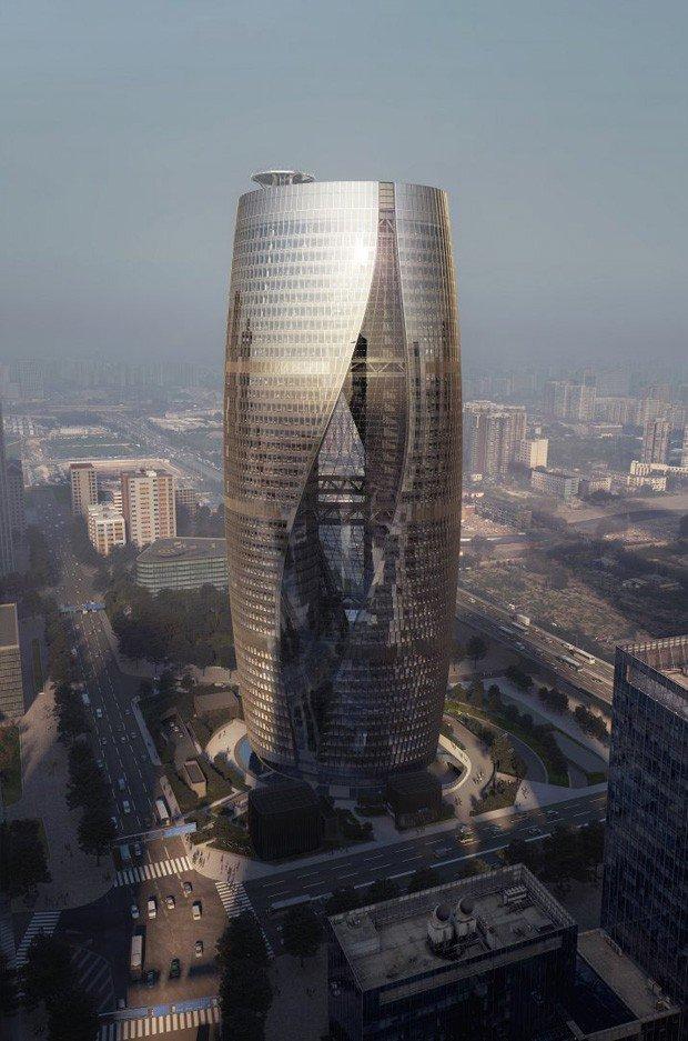 Zaha Hadid Architets constrói átrio retorcido mais alto do mundo! https://t.co/hjC5QNg8K8 https://t.co/hjgOk8opaK