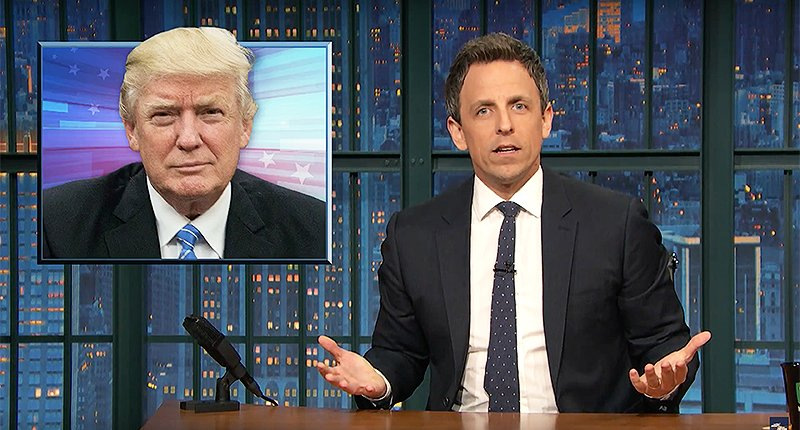 'Do all orange people know each other?': Seth Meyers slams Trump for racist question to black journalist https://t.co/5eBtOaHPmW