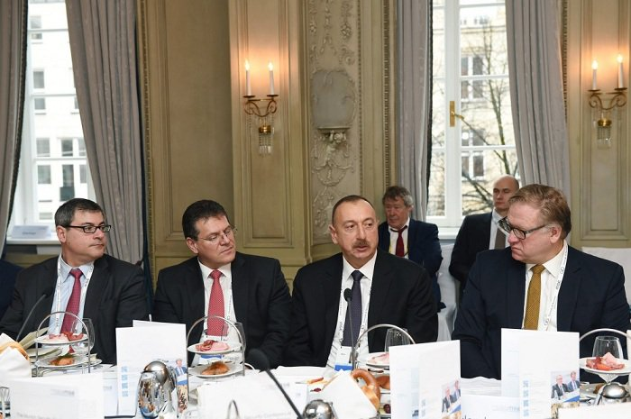 .@presidentaz Aliyev attends roundtable of #MunichSecurityConference