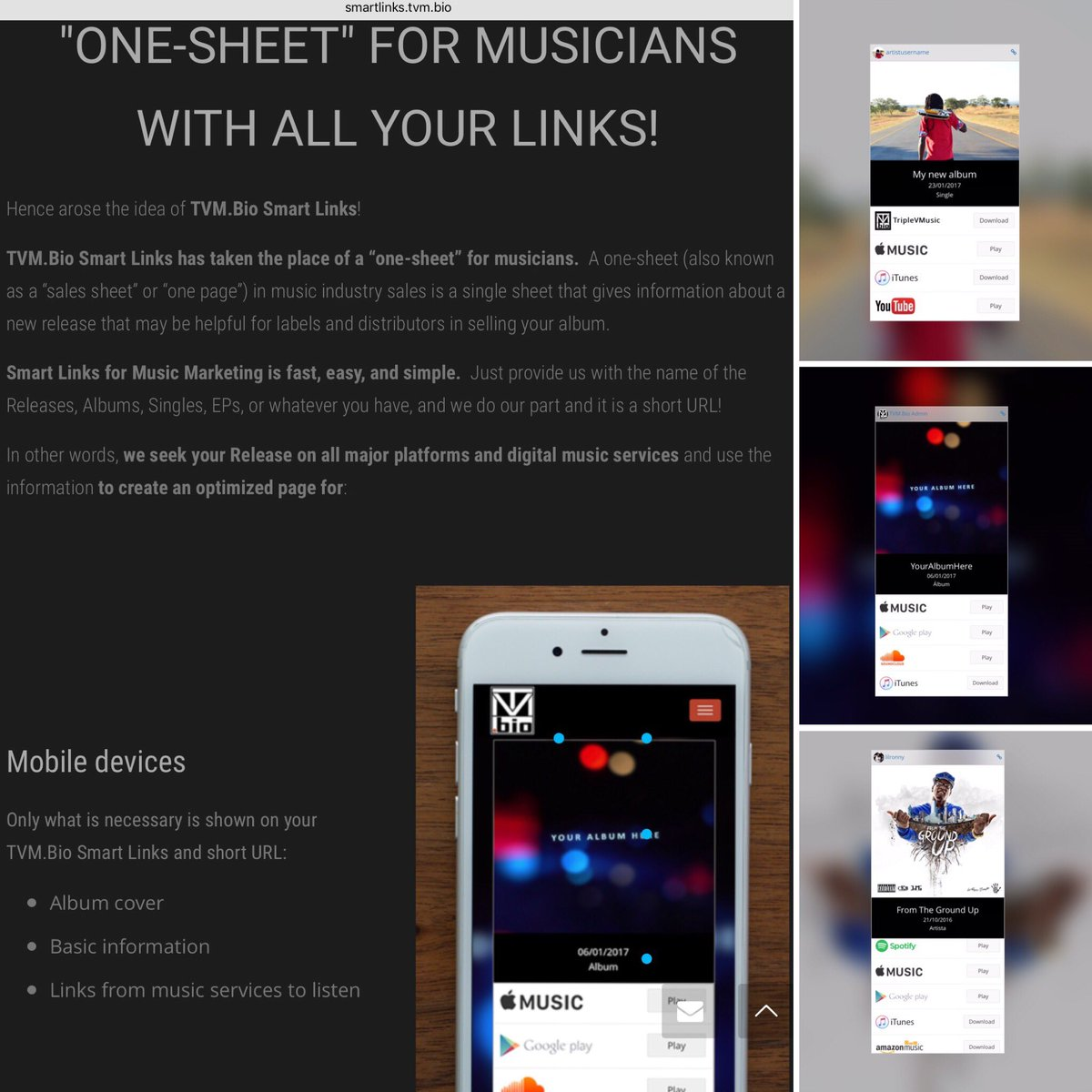 RT &amp; LIKE Smart links for Smart #Musicians  http:// smartlinks.tvm.bio  &nbsp;   Digital One Sheet for #music #musicmarketing #recordlabel #musicnews<br>http://pic.twitter.com/1kGzm8dFPK