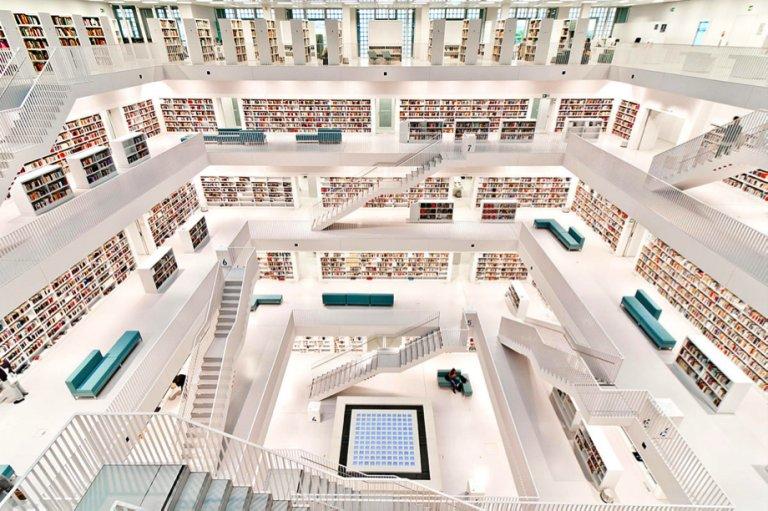 Resultado de imagen para Biblioteca de la ciudad de Stuttgart Alemania