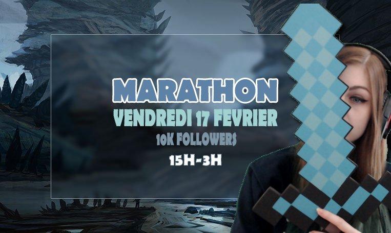 GO GO GO ! C&#39;EST PARTI POUR LE MARATHON ! VOUS ETES CHAUDS ???  #marathon #tournament  https://www. twitch.tv/neila_gaming  &nbsp;  <br>http://pic.twitter.com/2h0GZFINL2