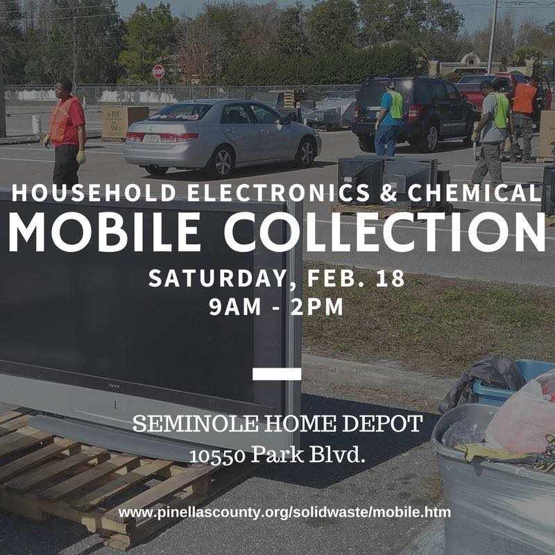 Pinellas County On Twitter Bring Your Unused Household Electronics Chemicals To Tomorrows Free Mobile Collection At Seminole Home Depot 10550 Park