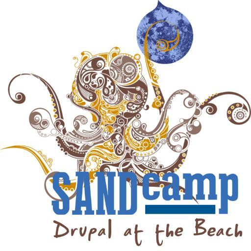SANDCamp Logo: Drupal on the Beach