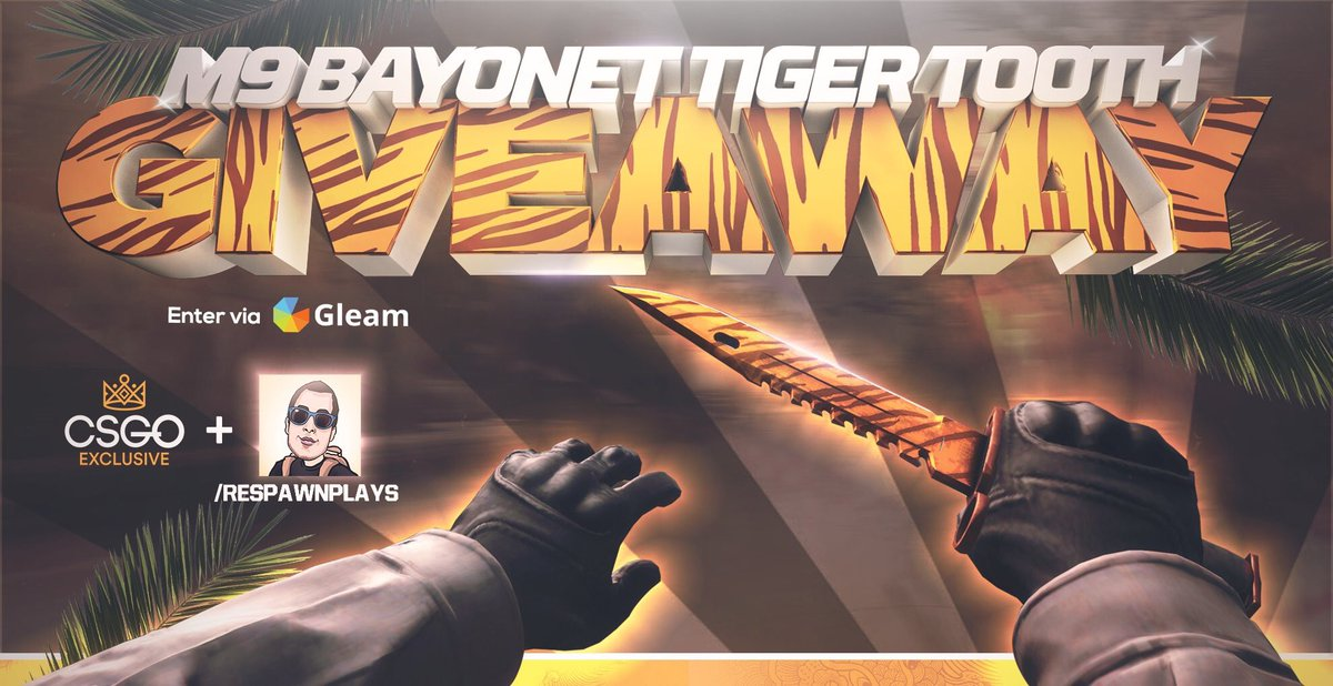 Bayonet tiger tooth giveaway sweepstakes