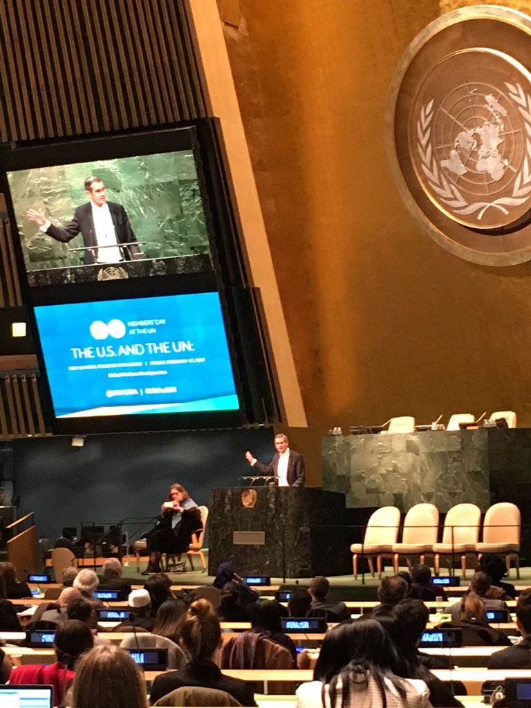 """""""We are both democrats and republicans... we are stronger when we stand together"""" Chris Whatley to crowd at #UNAatUN https://t.co/4QdEtDtURZ"""