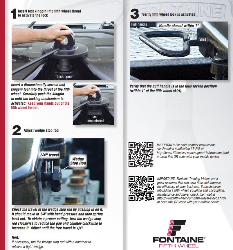 Fontaine Fifth Wheel On Twitter Proper Adjustment Can Make All The