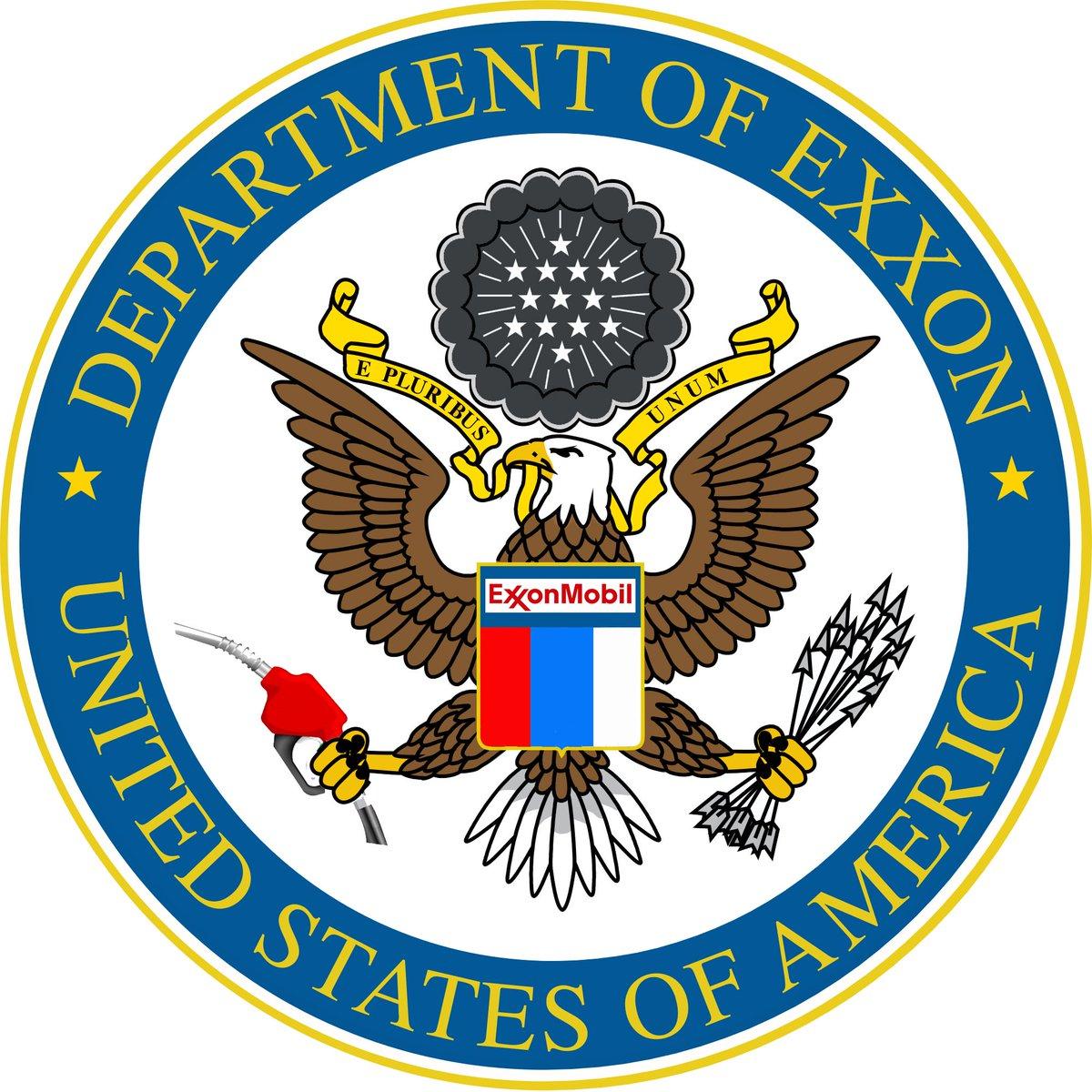 .@exxonmobil&#39;s man at @StateDept just canned a bunch of civil servants. Regime change!  http://www. cbsnews.com/news/state-dep t-layoffs-under-rex-tillerson-being-carried-out/ &nbsp; …  #ExxonKnew #Kleptocracy<br>http://pic.twitter.com/QSRNREiW9Q