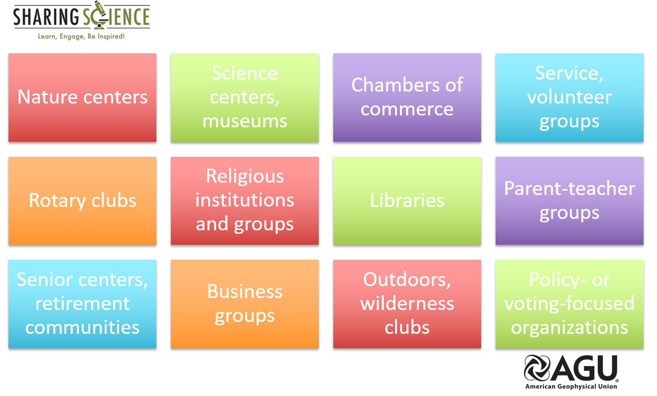 Do you want to talk to the general public? Start with community groups! #sciengage #scicomm https://t.co/SZxemYFSrI https://t.co/Jh0jRM4SqP