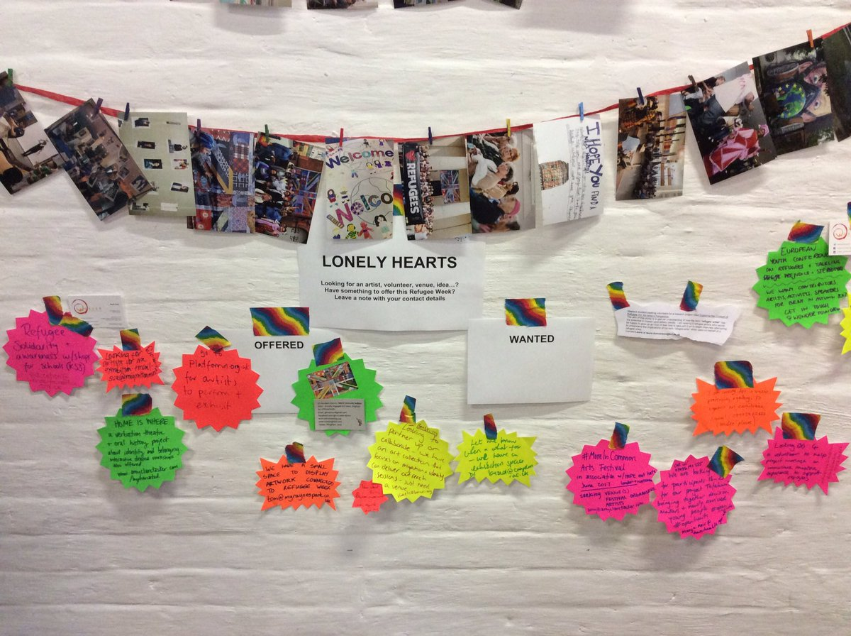 Searching through the lonely hearts at #RWconference2017 and found so many great organisations keen to work together for #Refugeeweek2017 :)