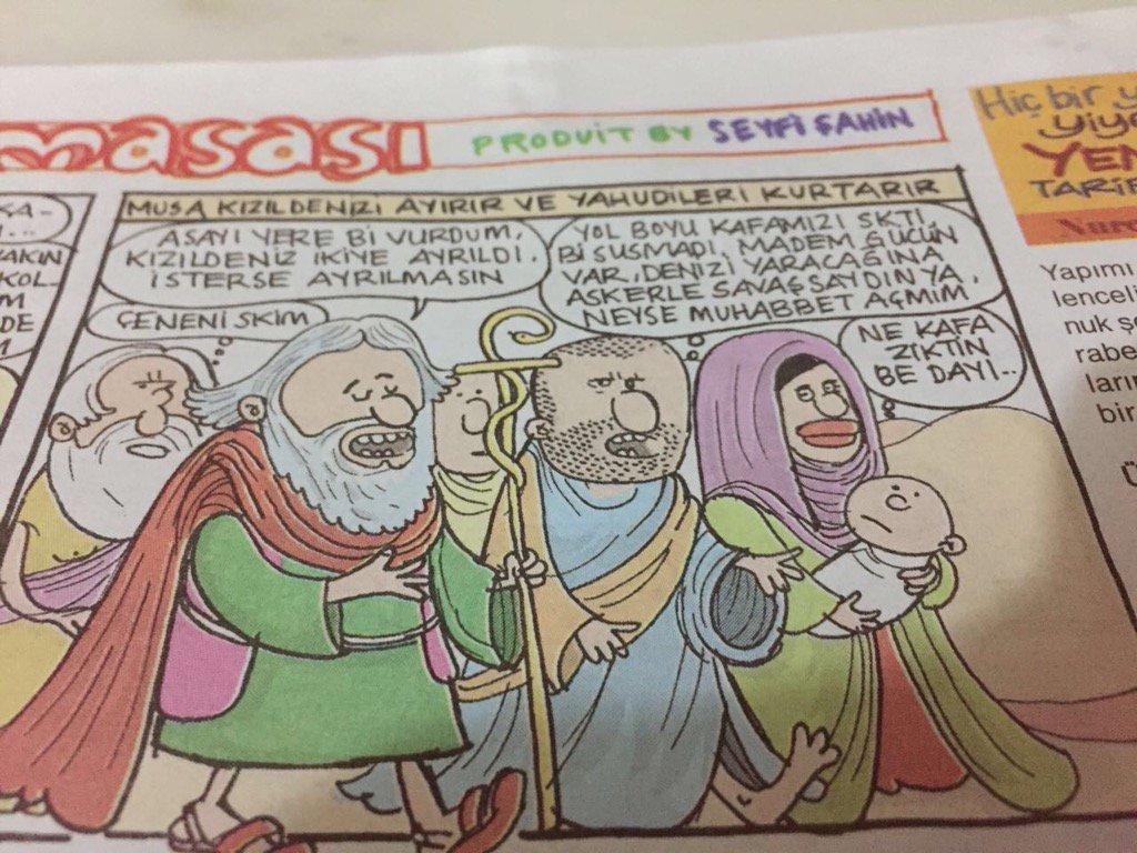 #Turquie. Pour une #caricature de #Moïse, la revue satirique #Girgir a été fermée, toute la rédaction limogée. #LibertédelaPresse #Erdogan <br>http://pic.twitter.com/IOfgqO6EvJ